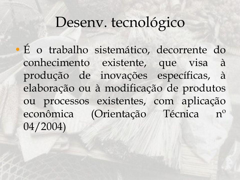 Desenv. tecnológico