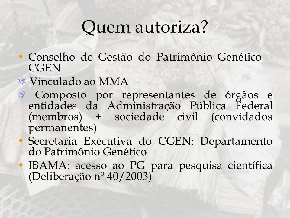 Quem autoriza Conselho de Gestão do Patrimônio Genético – CGEN