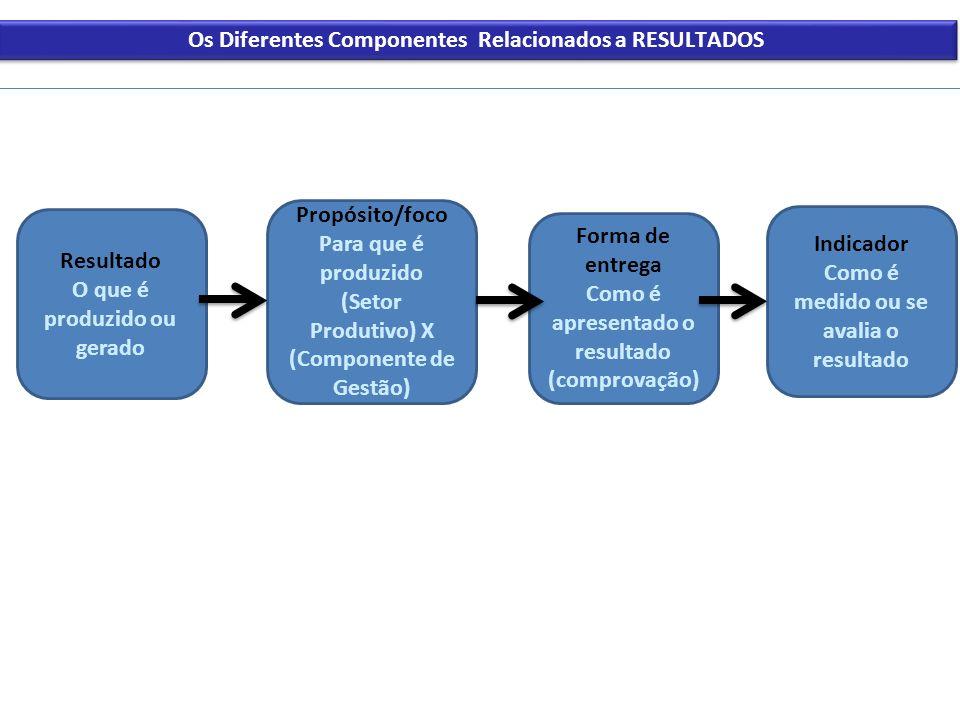 Os Diferentes Componentes Relacionados a RESULTADOS