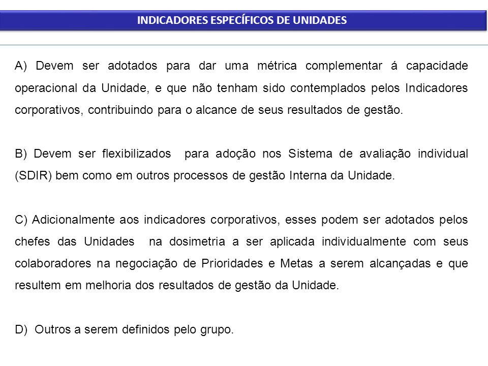 INDICADORES ESPECÍFICOS DE UNIDADES