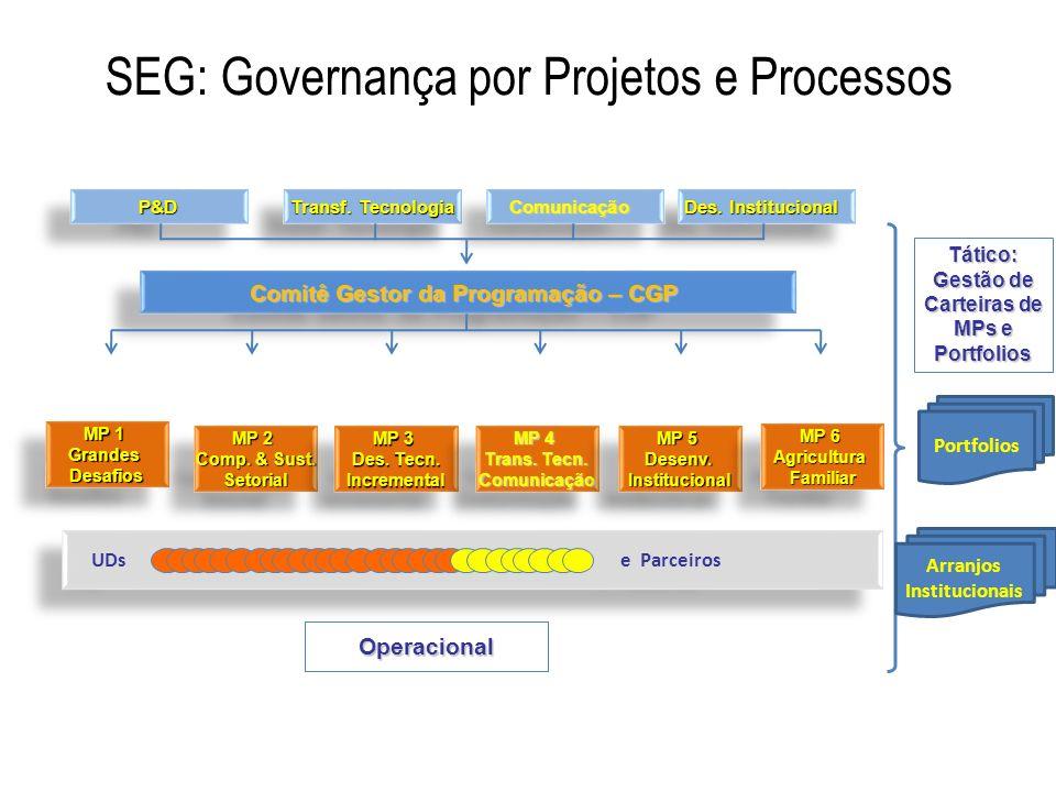 SEG: Governança por Projetos e Processos