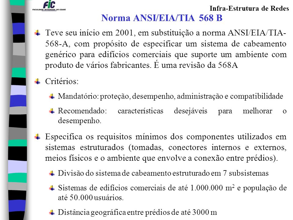 Norma ANSI/EIA/TIA 568 B