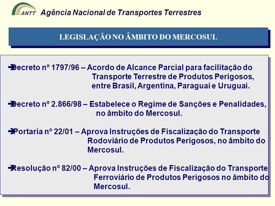 LEGISLAÇÃO NO ÂMBITO DO MERCOSUL