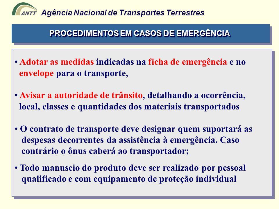 PROCEDIMENTOS EM CASOS DE EMERGÊNCIA