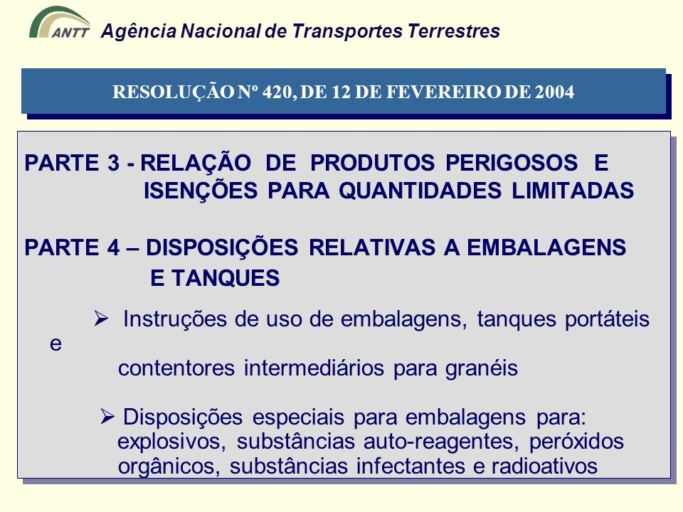RESOLUÇÃO Nº 420, DE 12 DE FEVEREIRO DE 2004