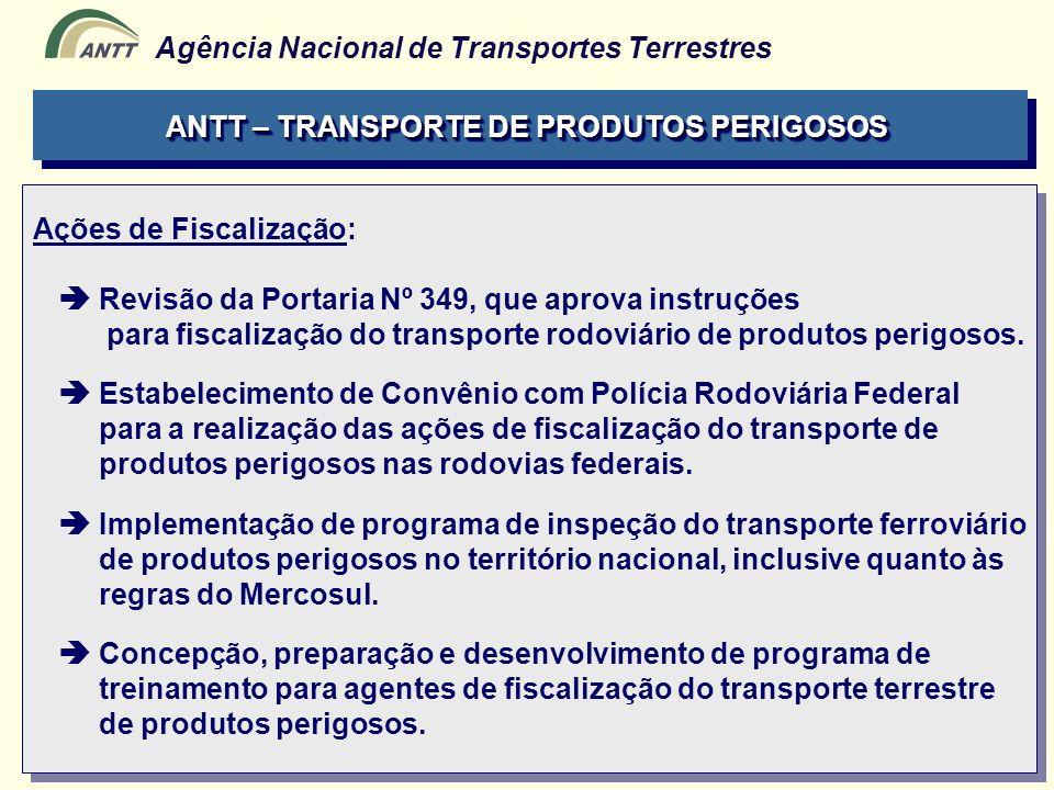 ANTT – TRANSPORTE DE PRODUTOS PERIGOSOS