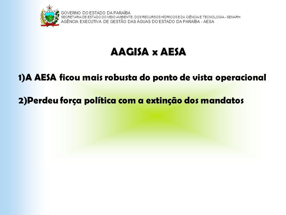 AAGISA x AESA A AESA ficou mais robusta do ponto de vista operacional