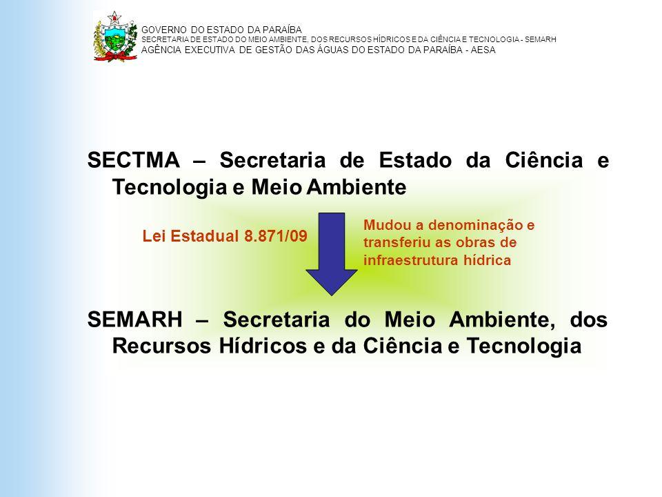 SECTMA – Secretaria de Estado da Ciência e Tecnologia e Meio Ambiente
