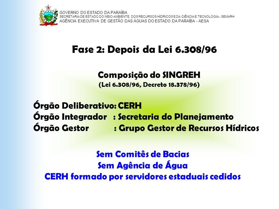 CERH formado por servidores estaduais cedidos