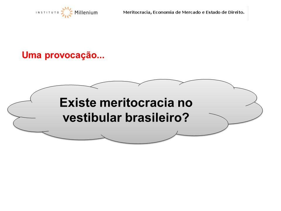 Existe meritocracia no vestibular brasileiro