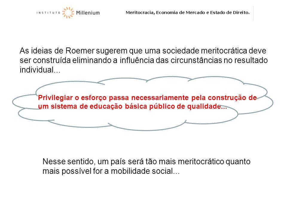 As ideias de Roemer sugerem que uma sociedade meritocrática deve