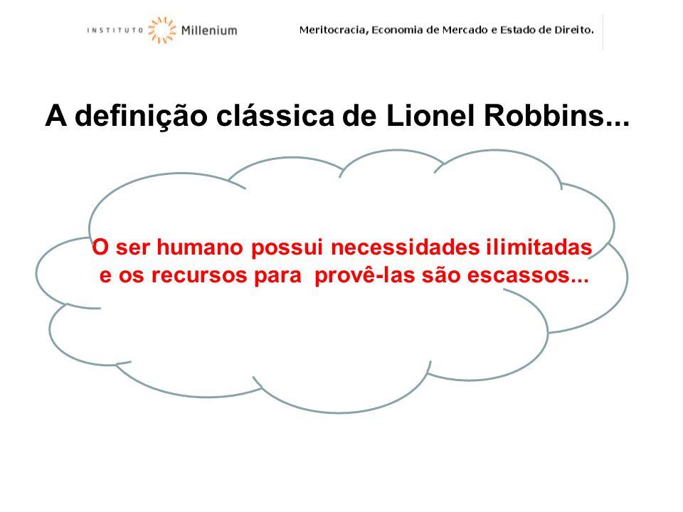 A definição clássica de Lionel Robbins...
