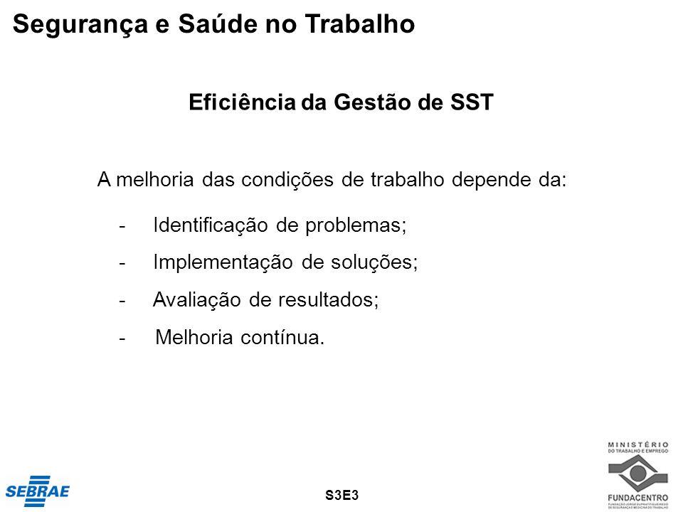 Eficiência da Gestão de SST