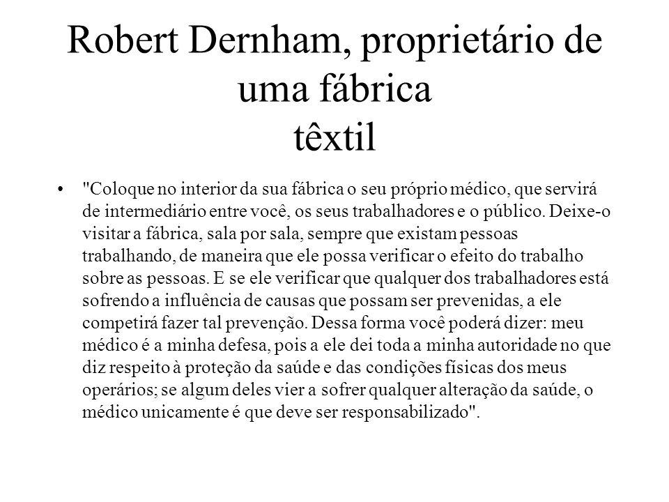 Robert Dernham, proprietário de uma fábrica têxtil