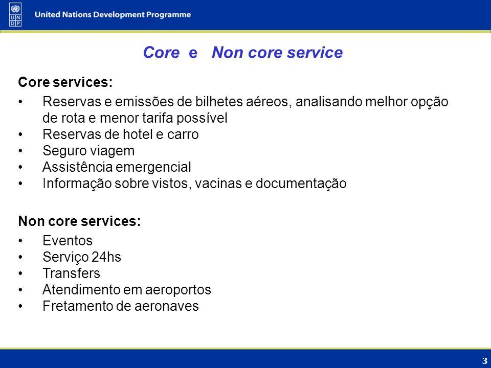 Core e Non core service Core services: