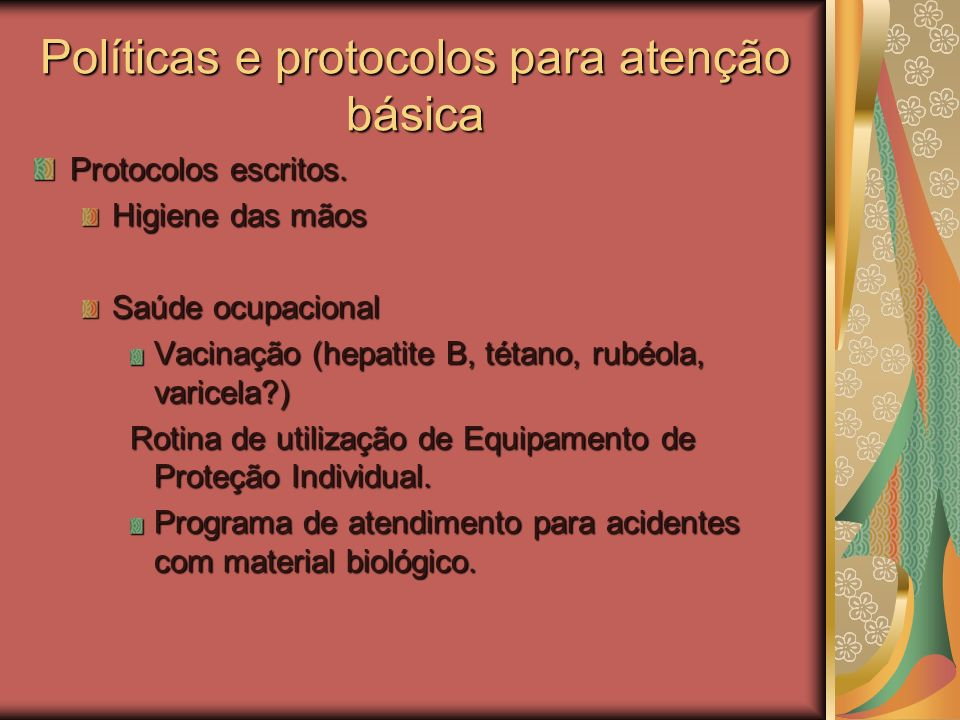 Políticas e protocolos para atenção básica