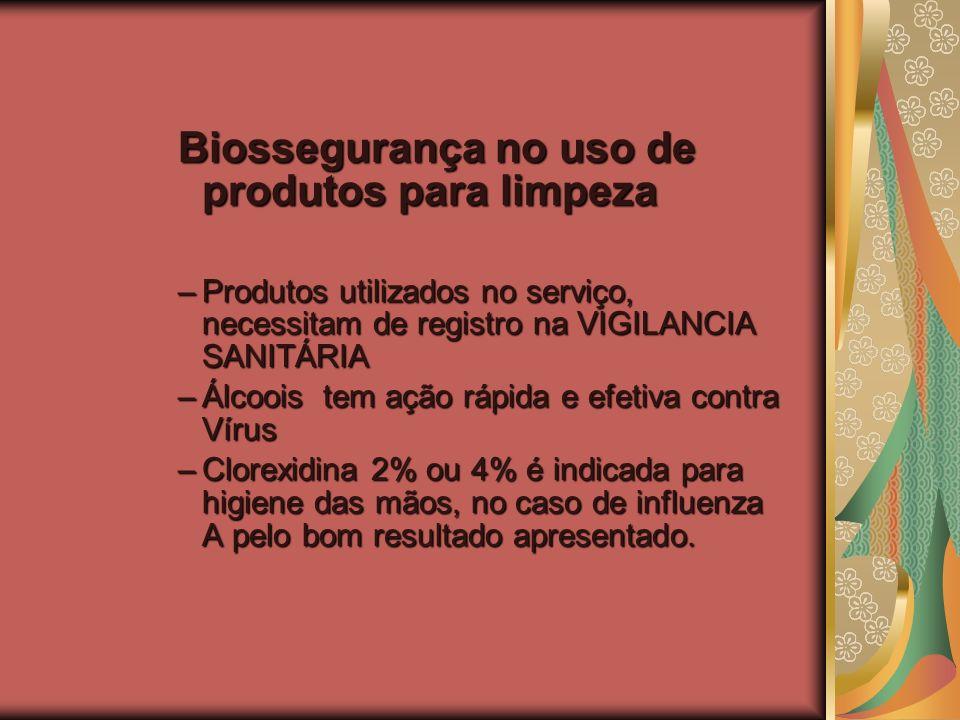 Biossegurança no uso de produtos para limpeza