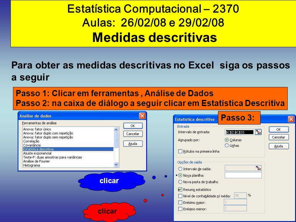Estatística Computacional – 2370
