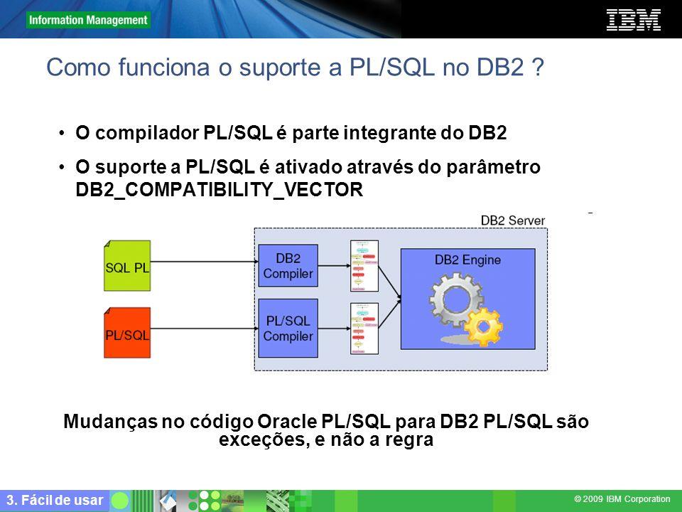Como funciona o suporte a PL/SQL no DB2