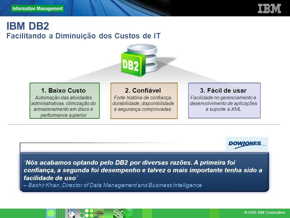 IBM DB2 Facilitando a Diminuição dos Custos de IT
