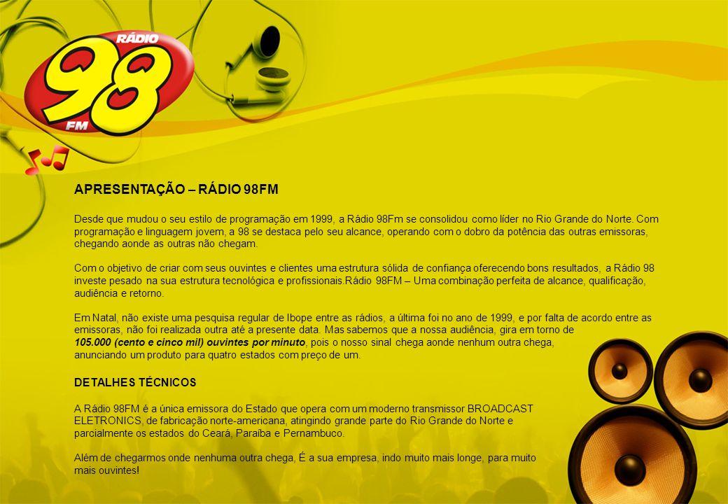 APRESENTAÇÃO – RÁDIO 98FM
