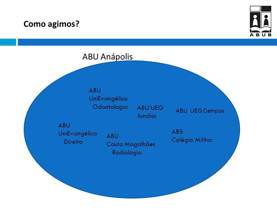 Como agimos ABU Anápolis ABU UniEvangélica Odontologia