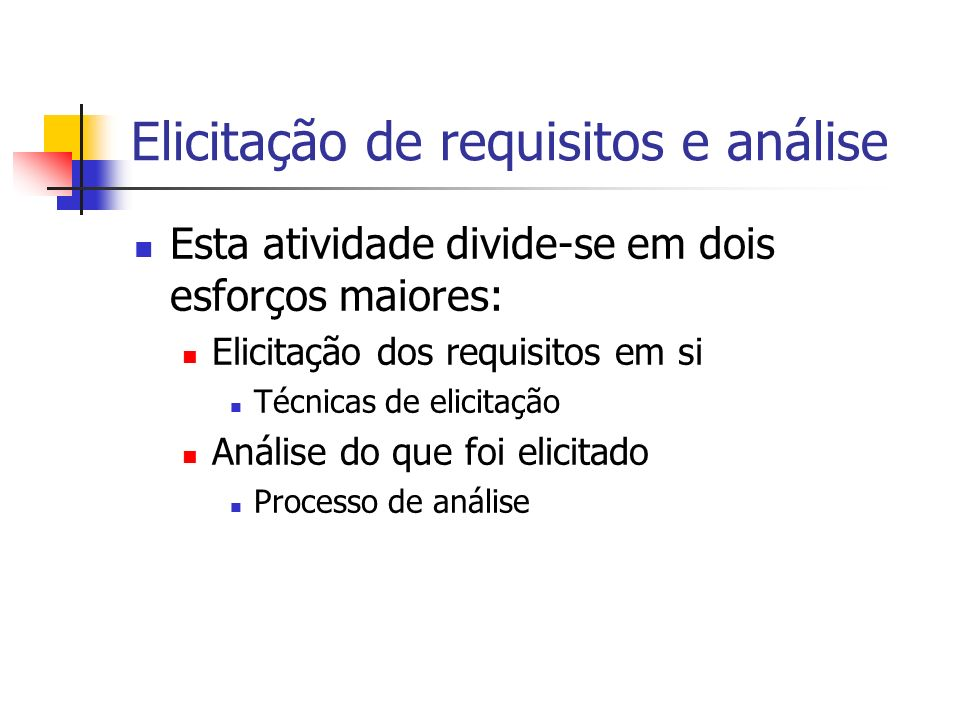Elicitação de requisitos e análise