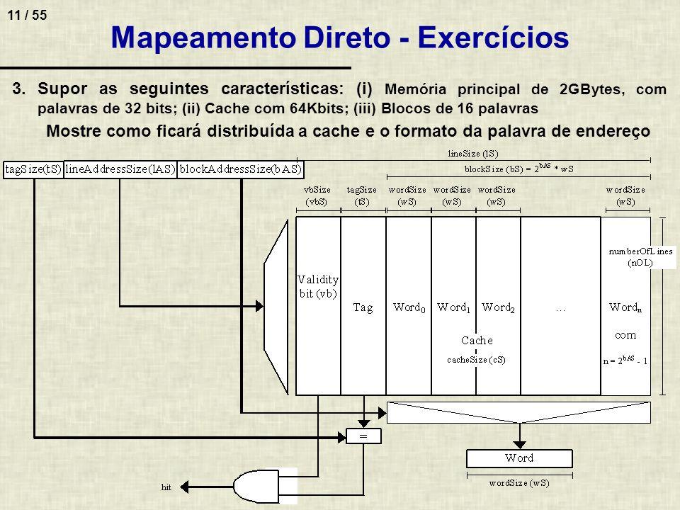 Mapeamento Direto - Exercícios