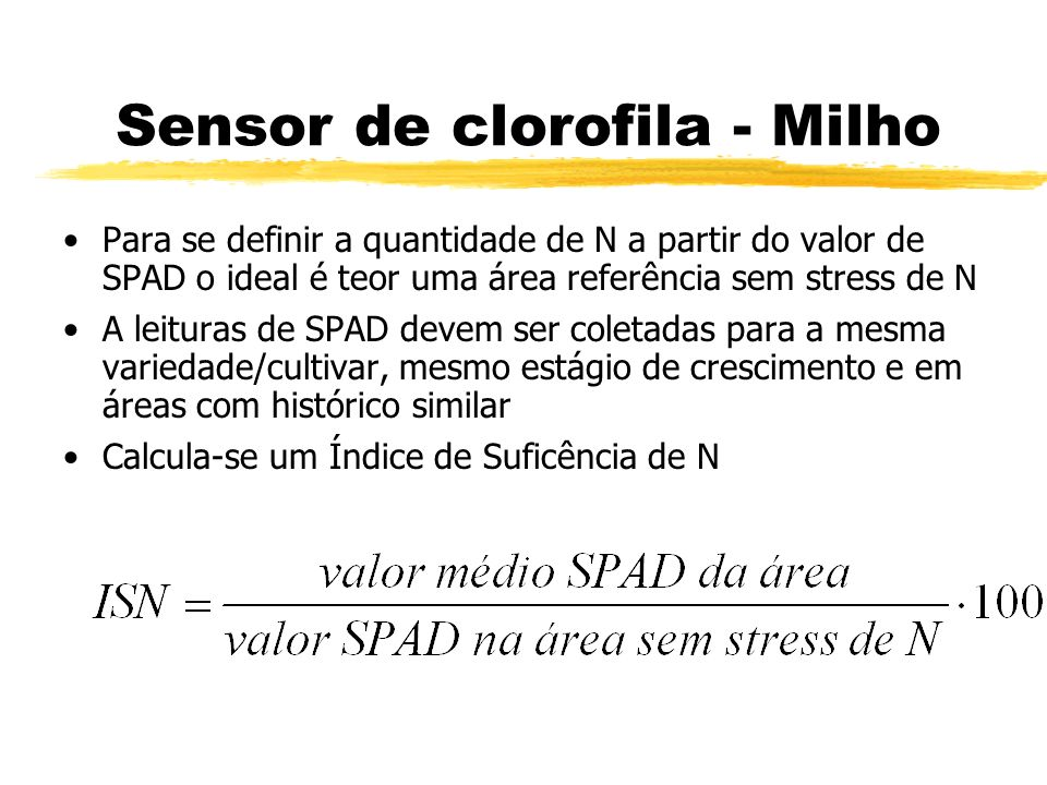 Sensor de clorofila - Milho
