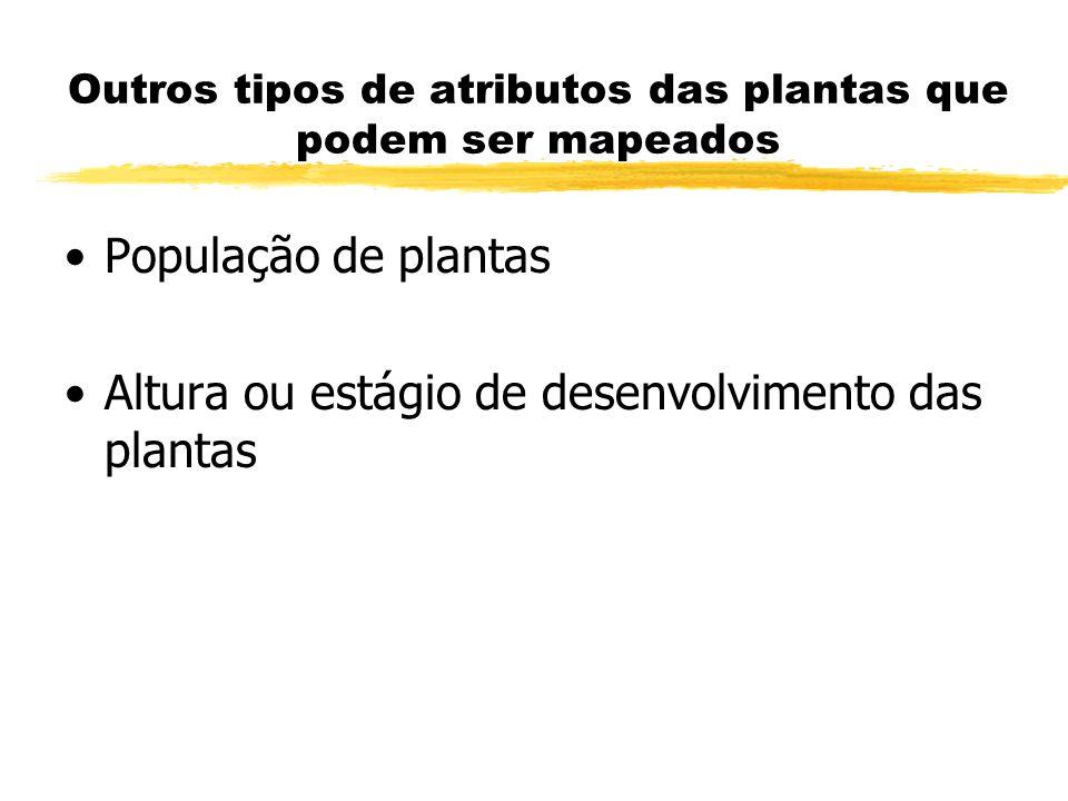 Outros tipos de atributos das plantas que podem ser mapeados