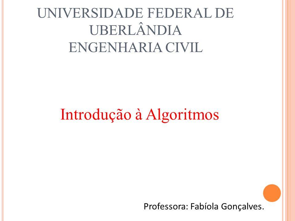 UNIVERSIDADE FEDERAL DE UBERLÂNDIA ENGENHARIA CIVIL