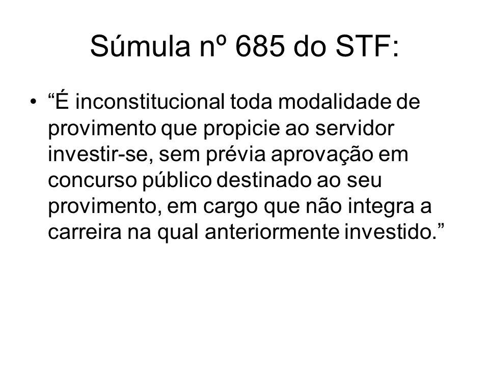 Súmula nº 685 do STF:
