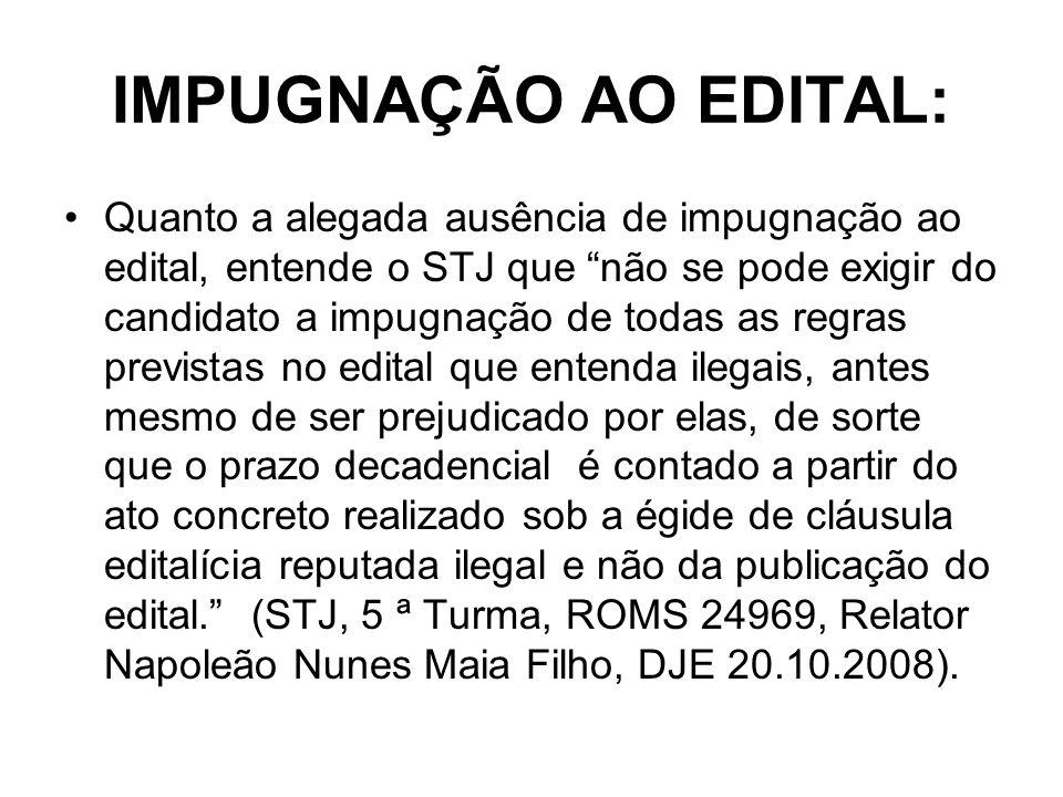 IMPUGNAÇÃO AO EDITAL: