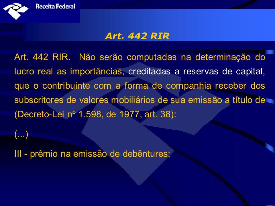 Art. 442 RIR