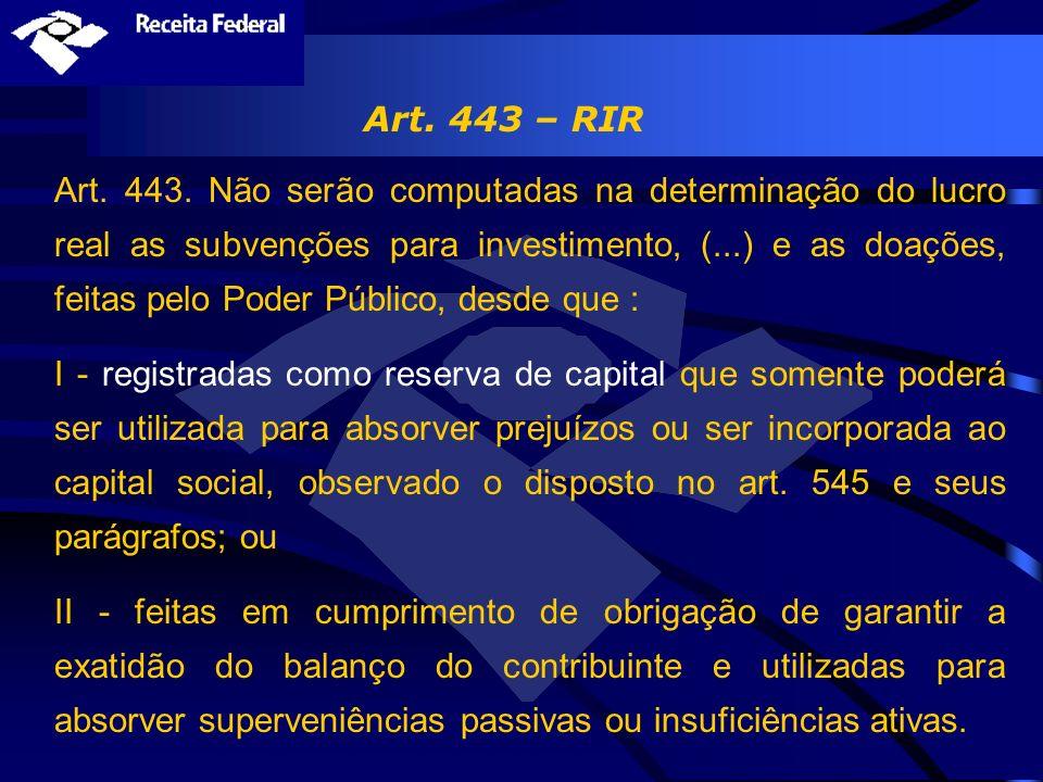 Art. 443 – RIR
