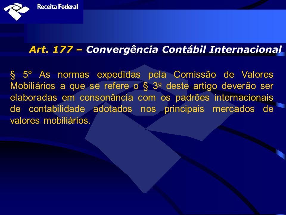 Art. 177 – Convergência Contábil Internacional