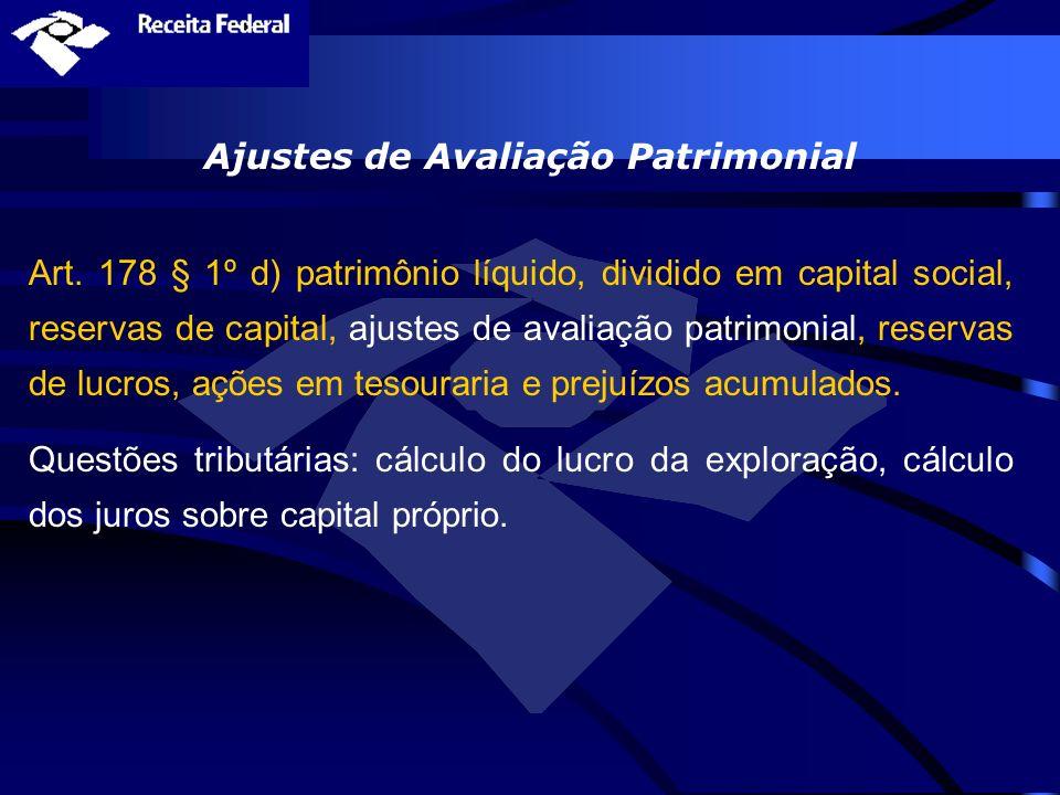 Ajustes de Avaliação Patrimonial