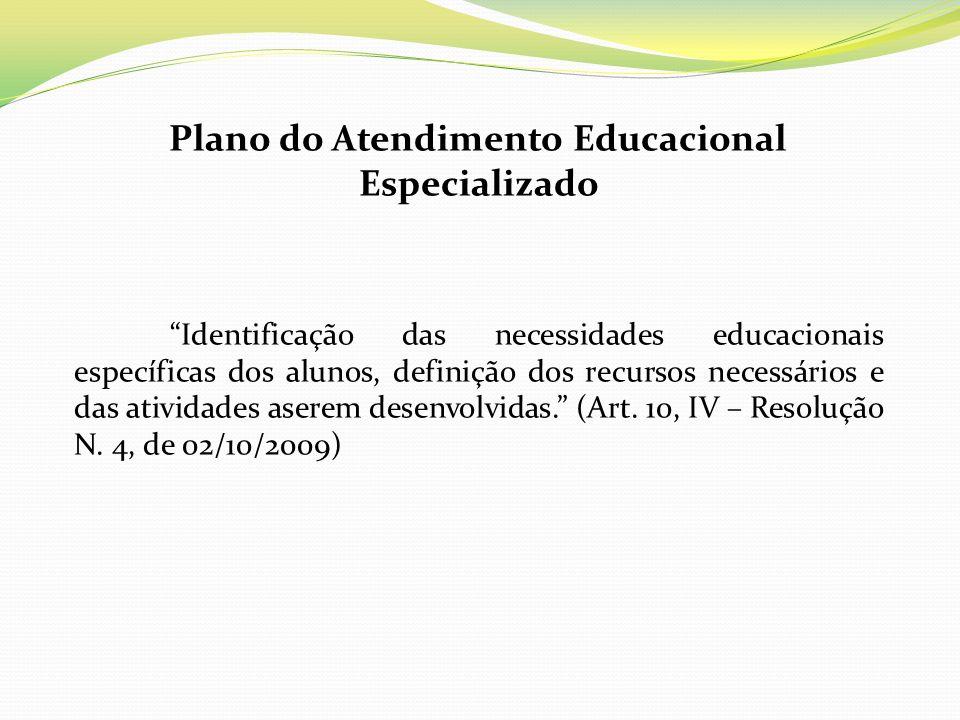 Plano do Atendimento Educacional Especializado