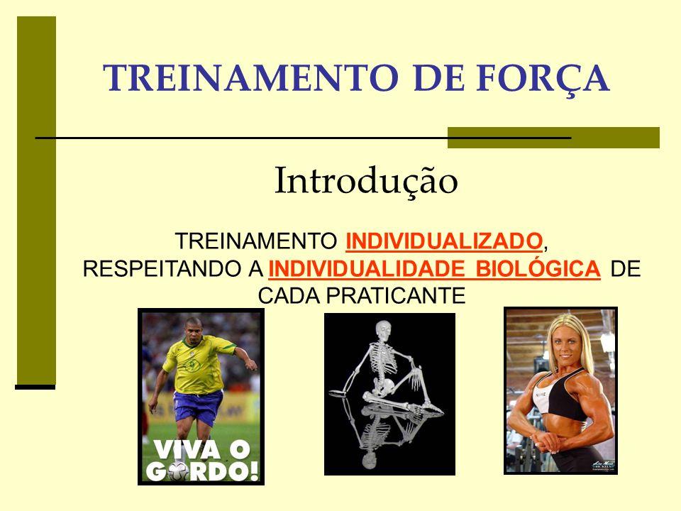 TREINAMENTO DE FORÇA Introdução