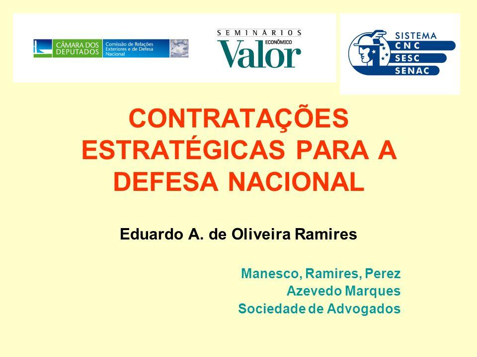 CONTRATAÇÕES ESTRATÉGICAS PARA A DEFESA NACIONAL