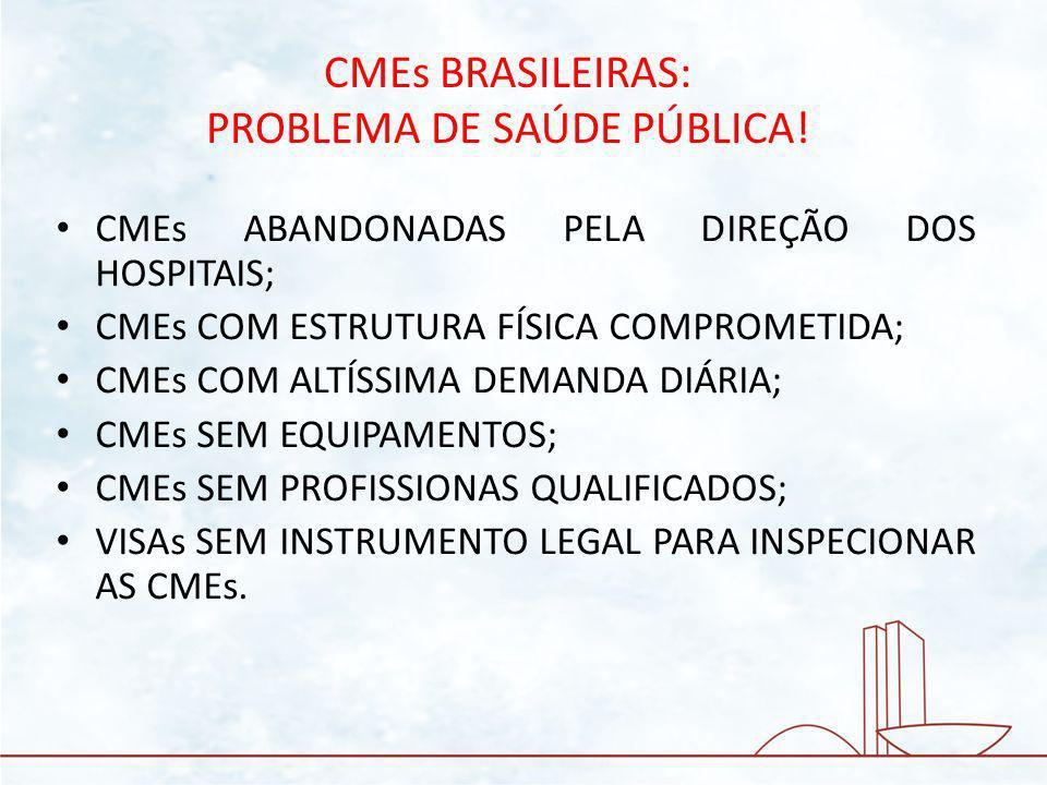 CMEs BRASILEIRAS: PROBLEMA DE SAÚDE PÚBLICA!
