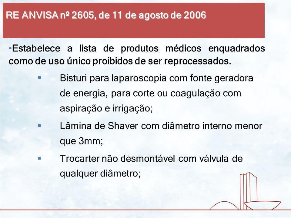 RE ANVISA nº 2605, de 11 de agosto de 2006