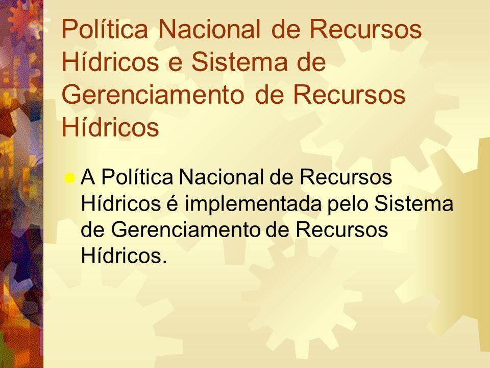 Política Nacional de Recursos Hídricos e Sistema de Gerenciamento de Recursos Hídricos