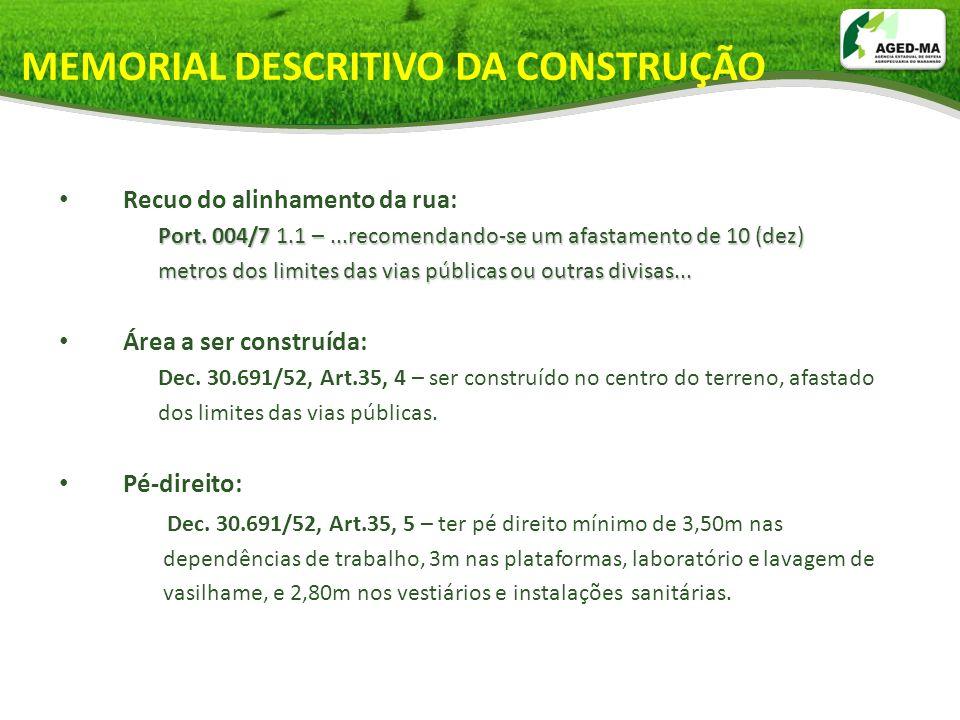 MEMORIAL DESCRITIVO DA CONSTRUÇÃO