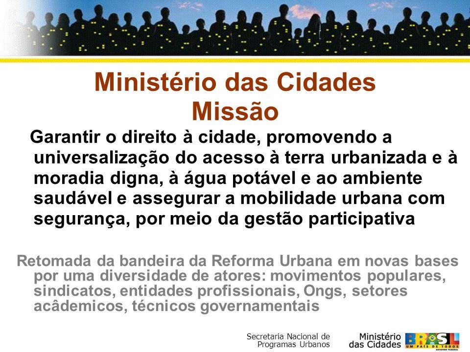 Ministério das Cidades Missão