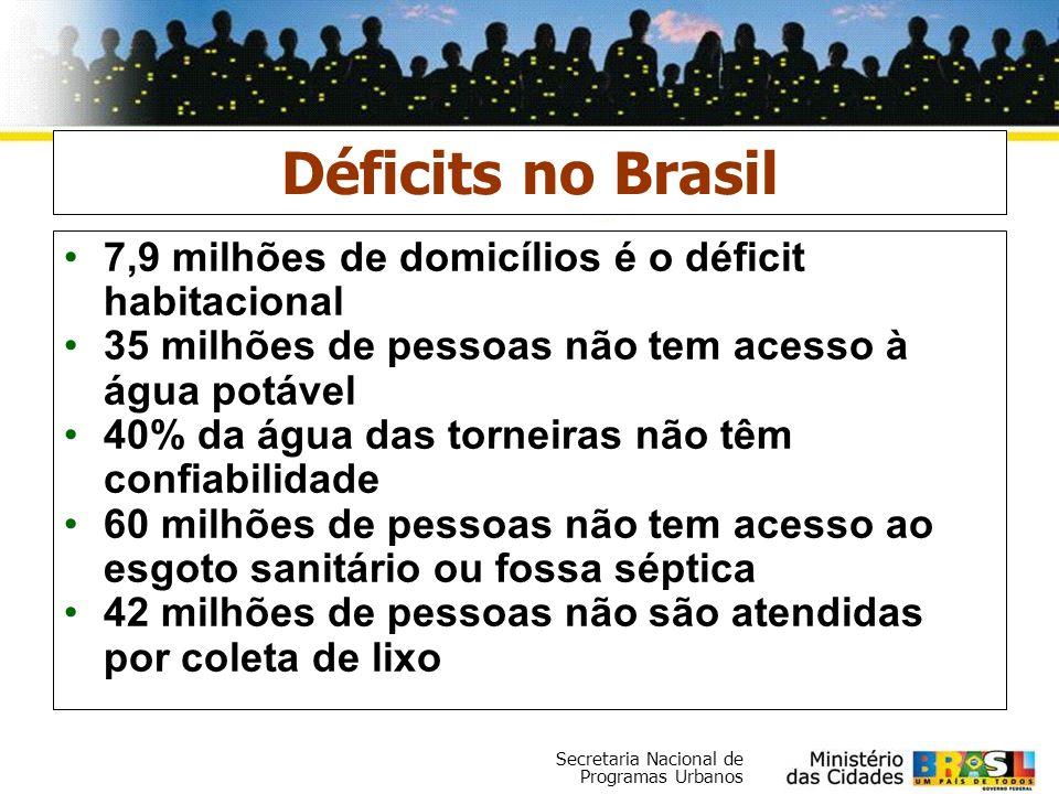 Déficits no Brasil 7,9 milhões de domicílios é o déficit habitacional