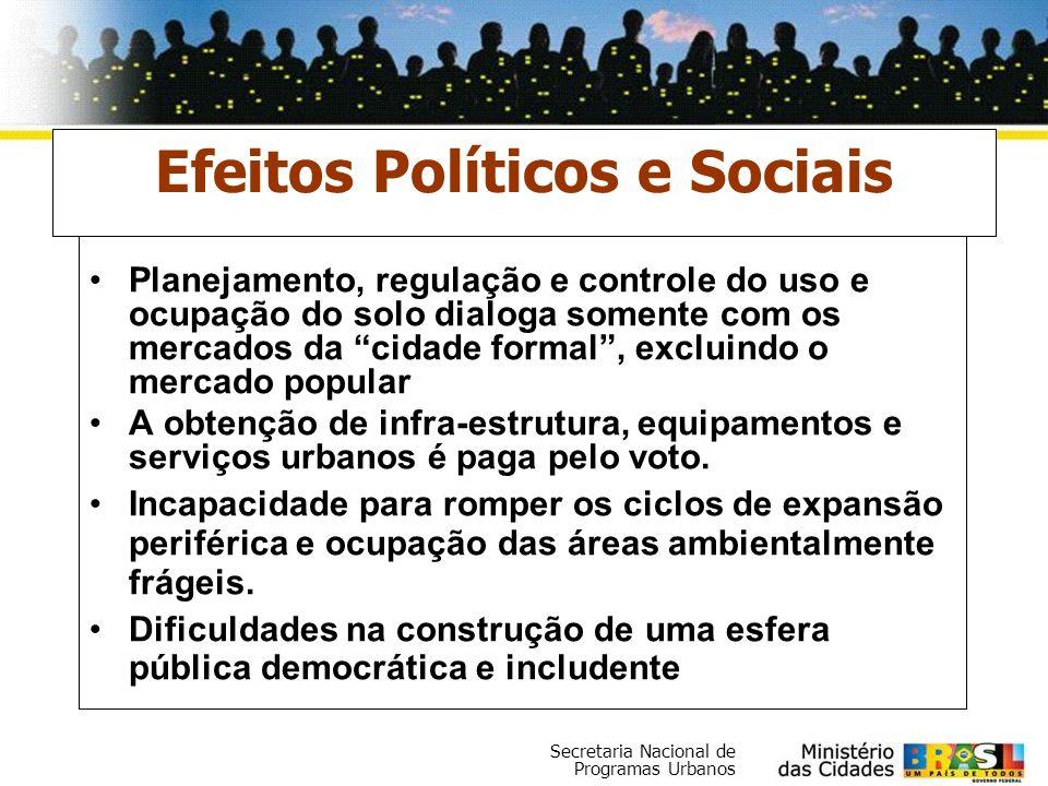 Efeitos Políticos e Sociais
