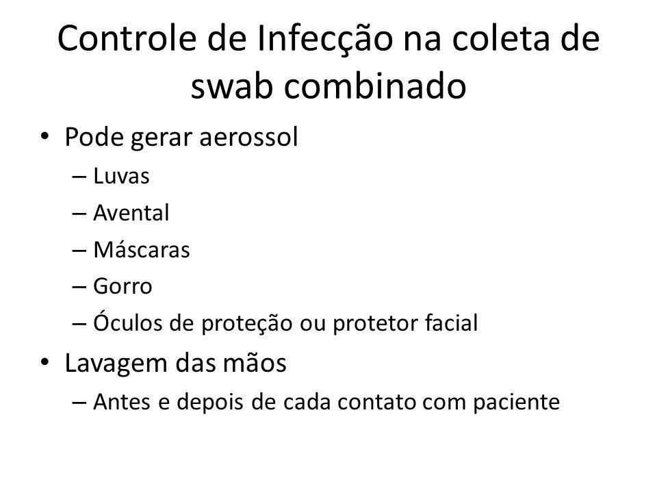 Controle de Infecção na coleta de swab combinado