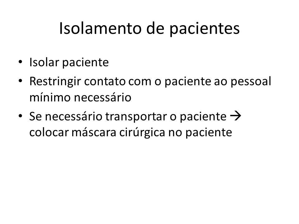 Isolamento de pacientes