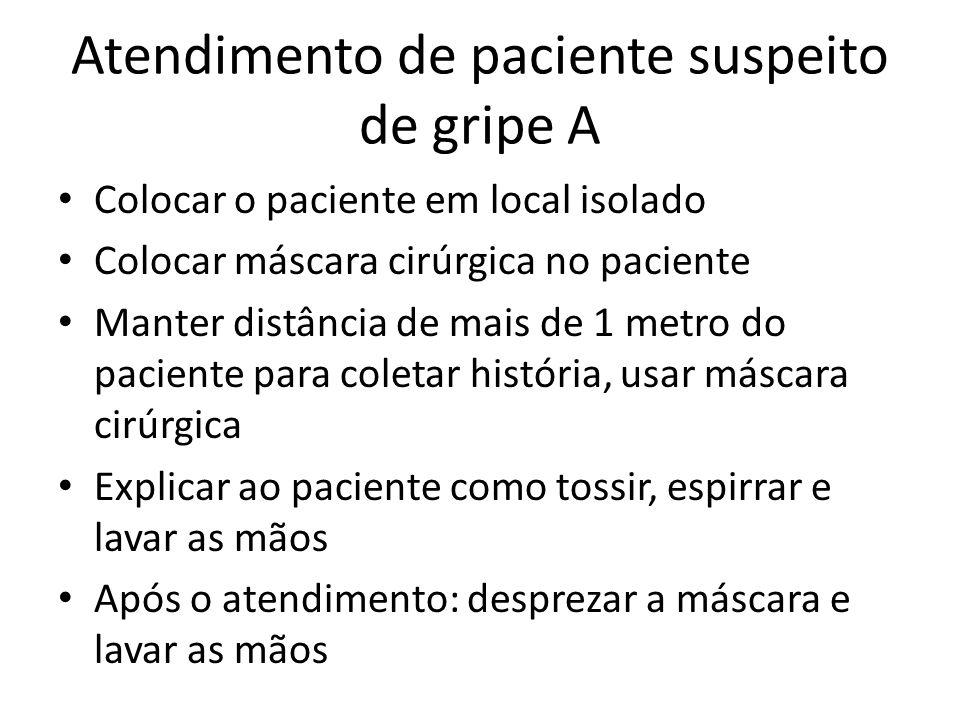 Atendimento de paciente suspeito de gripe A